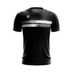 Camisa Casual Masculina preta duas barras