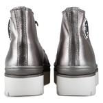 Tênis Flatform Kiara Cano Alto Metallic Onix