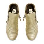 Sneakers Matelassê Ouro - Salto 3,5 Cm