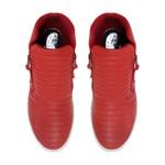 Sneakers Matelassê Vermelho - Salto 3,5 Cm