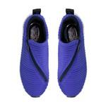 Tênis Trico Com Elastano e Zíper Diagonal Azul Royal / Zíper Preto