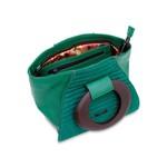 Bolsa Tote em Couro com Alça Oval Verde Bandeira
