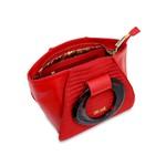 Bolsa Tote em Couro com Alça Oval Vermelha
