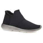 TÊnis Boots Com ElÁstico Lateral Preto