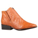 Bota Nina Cano Curto Chease Boots Caramelo Salto 3,5 Cm