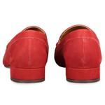 Loafer Mia Costura Grossa Vermelho Salto 2,5 cm