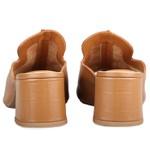 Mule Alicia Aa Fio Com Costura Grossa Central Caramelo Salto 5,5 cm