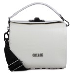 Crossbody Alça Fecho Metalico Lapidado Off White