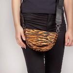 Belt Bag Mais Alça Transversal Pelo Tigre Camel