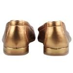 Flat Pietra Couro Estampado Bronze Salto 1,5cm