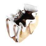 Bolsa Bucket Branco / Rafia Natural