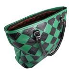 Shopper Tressê em Couro Verde Bandeira / Preta