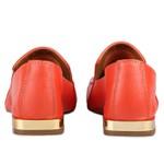 Loafer Rebeca Ponto Celeiro Dark Orange Salto 2 cm