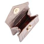 Mini Bag Ponto Celeiro Couro Metallic