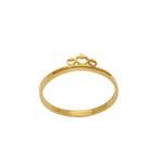 Anel Coroa Infantil em Ouro 18k