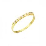 Meia Aliança com Diamantes em Ouro 18k