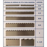 Lâmina Serra Fita 1.1/4 Pol. (6mm) Temperada Para Madeira Cortec