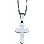 Corrente com Crucifixo Aço Inox Pai Nosso
