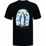 CAMISETA C ESTAMPA COLORIDA N.S DAS GRAÇAS