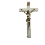 Crucifixo Resina com Cristo Metal 28cm