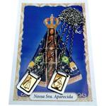 Escapulário Aço Inox Nossa Senhora Aparecida (Encartelado)