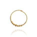 Pulseira Estilo Bracelete De Bolinhas Semijoia Banho De Ouro 18k