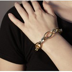Pulseira Elos Cartier Fosco Semijoia Banho De Ouro 18k