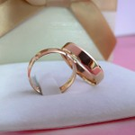 Aliança em Ouro Rosé 5mm 5 gramas Chanfrada Modelo Lucy