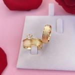 Aliança de Ouro 18k 6mm 7 gramas Modelo Irlanda e Anel Solitário Mon Amour