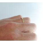 Aliança de ouro 18k 3mm 4g Trabalhada Reta Modelo Fine