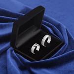 Aliança Compromisso 6mm Prata 950 Fosco Corações Vazados