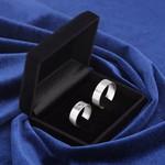 Aliança de compromisso 6mm Prata 950 Coração Reta
