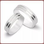 Aliança de Compromisso Prata 950 6mm Frisos Diamantados