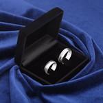 Aliança de Compromisso Prata 950 6mm Meio Fosca Modelo Midlight