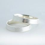 Aliança de compromisso 5mm Frisos diamantados Quadrada