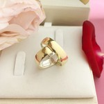 Aliança De Ouro 18K Revestido 6mm 10 gramas Modelo Gross