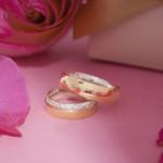 Aliança em Ouro 18k Revestida 6mm 10 gramas Modelo Elizabeth
