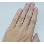 Aliança de Ouro 18k forro de prata 3mm abaulada Casamento