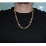 Corrente Grumet Dupla Grossa Folheada a Ouro 70 cm