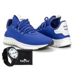Kit Tênis Masculino Polo Joy Sport Com Carteira e Relógio Azul