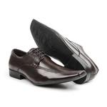 Sapato Social Bigioni Couro Masculino Bico Fino Conforto Marrom