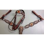 Conjunto Cabecada e Peiteira - Master Saddles 25