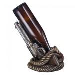 Porta Vinho resina importado - 2 Pistolas - Model. 1