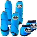 Kit Completo Boots Horse Color Cloche e Boleteira Dianteira e Traseira - Azul Turquesa