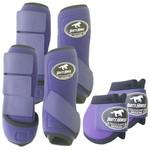 Kit Completo Boots Horse Color Cloche e Boleteira Dianteira e Traseira - Roxo