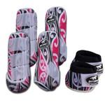 Kit Completo Boots Horse Color Cloche e Caneleira Dianteiro e Traseiro - Estampa NOV2 / Velcro Branco