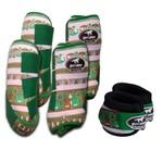 Kit Completo Boots Horse Color Cloche e Caneleira Dianteiro e Traseiro - Estampa NOV1 / Velcro Verde