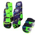 Kit Completo Boots Horse Color Cloche e Caneleira Dianteiro e Traseiro - Estampa A09 / Velcro Limão