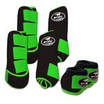 Kit Completo Boots Horse Color Cloche e Boleteira Dianteira e Traseira - Marrom / Verde limão