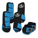 Kit Completo Boots Horse Color Cloche e Boleteira Dianteira e Traseira - Preto / Turquesa